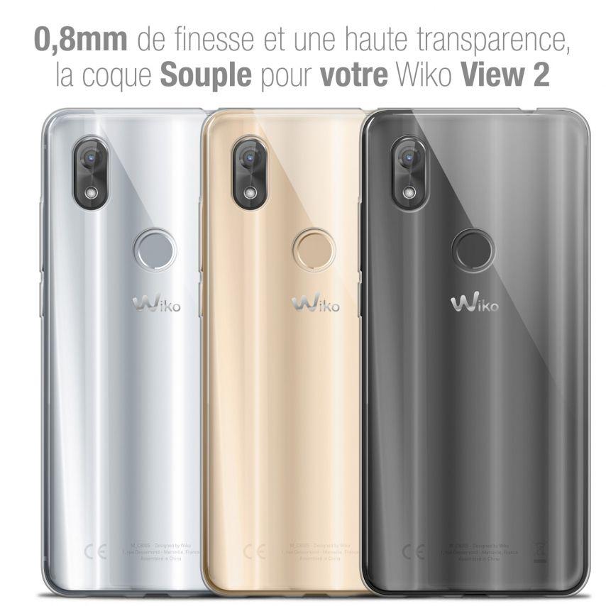 "Carcasa Extra Fina 1 mm Flexible Crystal Clear para Wiko View 2 (6.0"")"