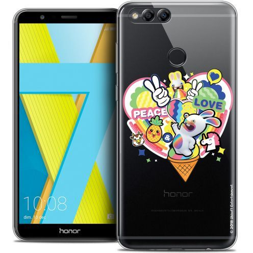 "Carcasa Crystal Gel Honor 7X (5.9"") Lapins Crétins™ Peace And Love"