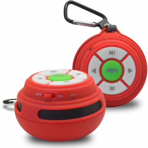Ultimate SoundBall Altavoz Bluetooth 3W rojo - Micro SD/USB/Jack connectores