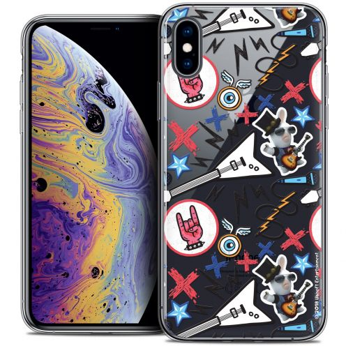 "Carcasa Crystal Gel Apple iPhone Xs Max (6.5"") Lapins Crétins™ Rock Pattern"