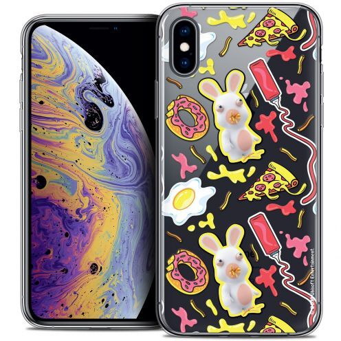 "Carcasa Crystal Gel Apple iPhone Xs Max (6.5"") Lapins Crétins™ Egg Pattern"