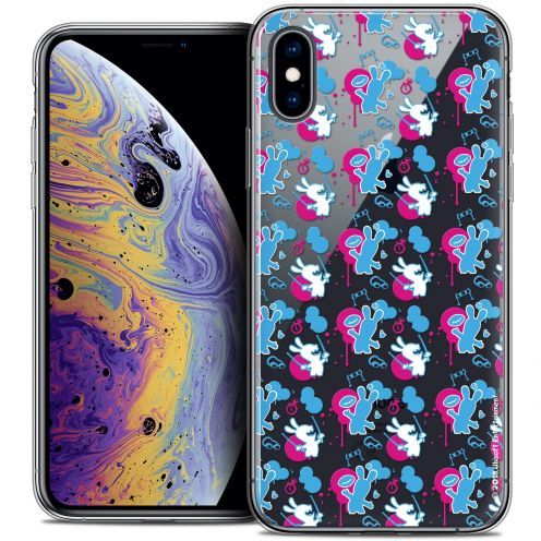 "Carcasa Crystal Gel Apple iPhone Xs Max (6.5"") Lapins Crétins™ Rugby Pattern"