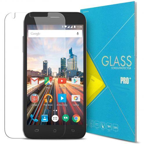 """Protección de pantalla de vidrio templado Archos 50 Helium Plus 4G 5"""" Glass Pro+ 9H Ultra HD 0.33 mm"""