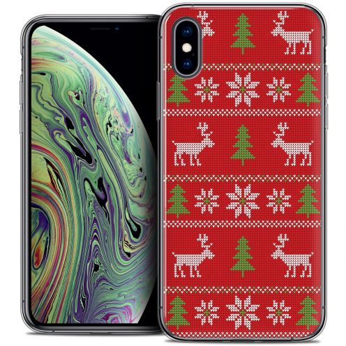"""Carcasa Crystal Gel Extra Fina Apple iPhone Xs Max (6.5"""") Noël 2017 Couture Rouge"""