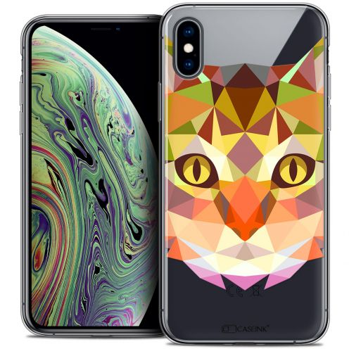 "Carcasa Crystal Gel Extra Fina Apple iPhone Xs Max (6.5"") Polygon Animals Gato"