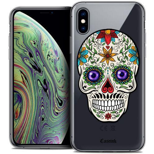"Carcasa Crystal Gel Extra Fina Apple iPhone Xs Max (6.5"") Skull Maria's Flower"