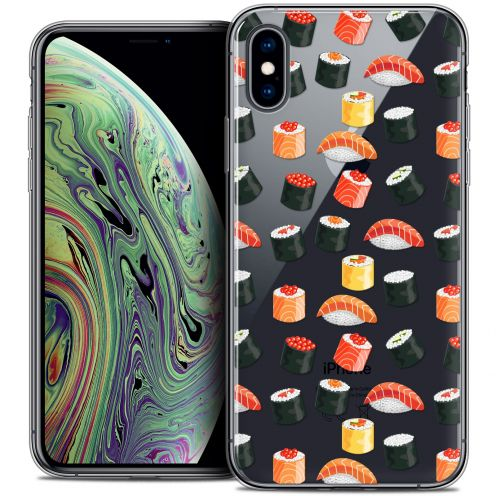 "Carcasa Crystal Gel Extra Fina Apple iPhone Xs Max (6.5"") Foodie Sushi"