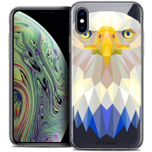 "Carcasa Crystal Gel Extra Fina Apple iPhone Xs Max (6.5"") Polygon Animals Águila"