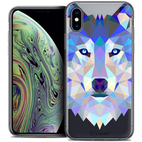 "Carcasa Crystal Gel Extra Fina Apple iPhone Xs Max (6.5"") Polygon Animals Lobo"