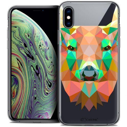 "Carcasa Crystal Gel Extra Fina Apple iPhone Xs Max (6.5"") Polygon Animals Ciervo"