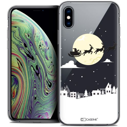 "Carcasa Crystal Gel Extra Fina Apple iPhone Xs Max (6.5"") Noël 2017 Flying Stanta"