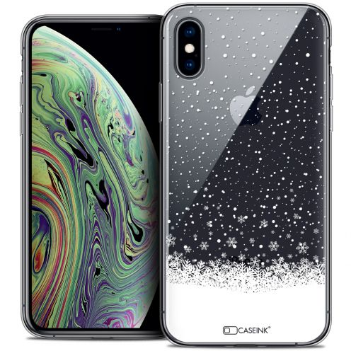 "Carcasa Crystal Gel Extra Fina Apple iPhone Xs Max (6.5"") Noël 2017 Flocons de Neige"