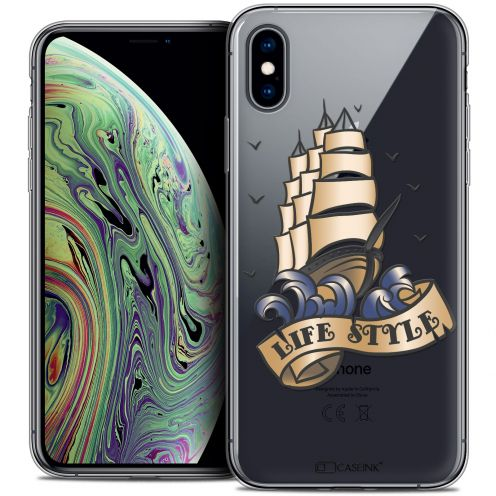 "Carcasa Crystal Gel Extra Fina Apple iPhone Xs Max (6.5"") Tatoo Lover Life Style"