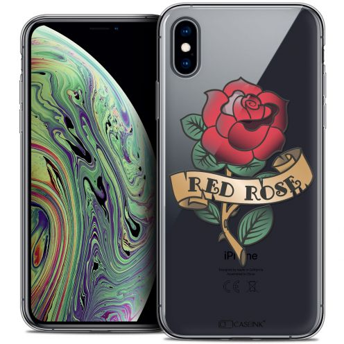 "Carcasa Crystal Gel Extra Fina Apple iPhone Xs Max (6.5"") Tatoo Lover Red Rose"