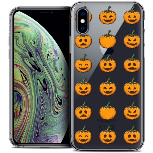 """Carcasa Crystal Gel Extra Fina Apple iPhone Xs Max (6.5"""") Halloween Smiley Citrouille"""