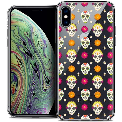 "Carcasa Crystal Gel Extra Fina Apple iPhone Xs Max (6.5"") Halloween Skull Halloween"