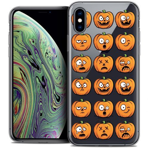 "Carcasa Crystal Gel Extra Fina Apple iPhone Xs Max (6.5"") Halloween Cartoon Citrouille"