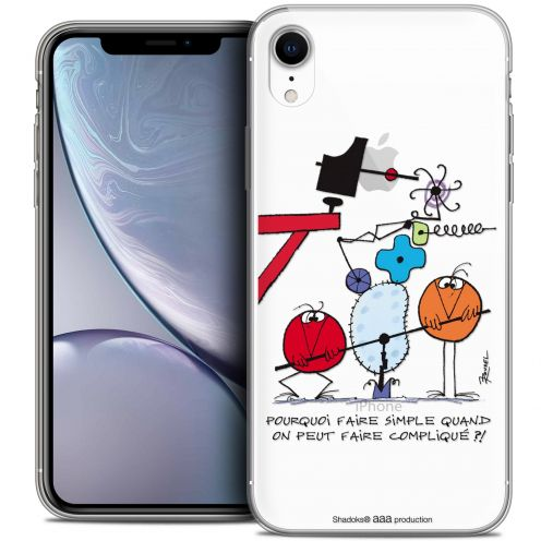 "Carcasa Crystal Gel Extra Fina Apple iPhone Xr (6.1"") Les Shadoks® Pourquoi faire Simple"