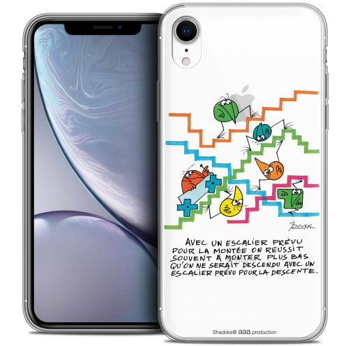 "Carcasa Crystal Gel Extra Fina Apple iPhone Xr (6.1"") Les Shadoks® L'escalier"