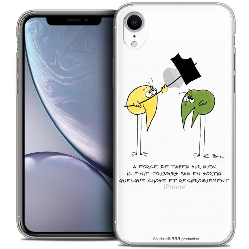 "Carcasa Crystal Gel Extra Fina Apple iPhone Xr (6.1"") Les Shadoks® A Force"