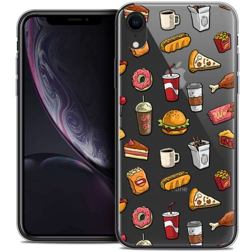 "Carcasa Crystal Gel Extra Fina Apple iPhone Xr (6.1"") Foodie Fast Food"