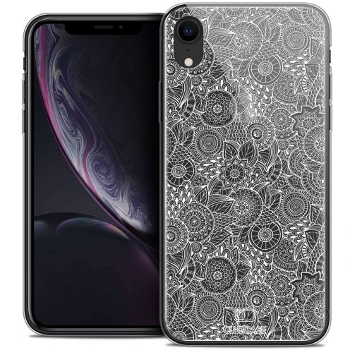 "Carcasa Crystal Gel Extra Fina Apple iPhone Xr (6.1"") Dentelle Florale Blanc"