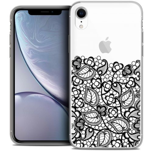 "Carcasa Crystal Gel Extra Fina Apple iPhone Xr (6.1"") Spring Bas dentelle Noir"