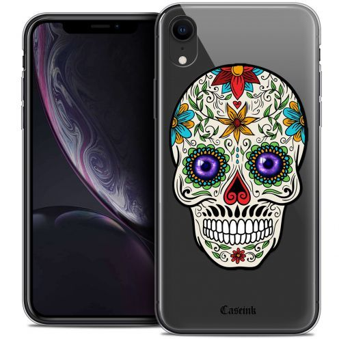 "Carcasa Crystal Gel Extra Fina Apple iPhone Xr (6.1"") Skull Maria's Flower"