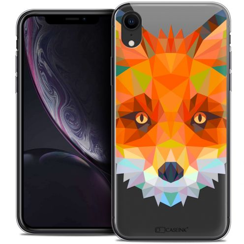 "Carcasa Crystal Gel Extra Fina Apple iPhone Xr (6.1"") Polygon Animals Zorro"