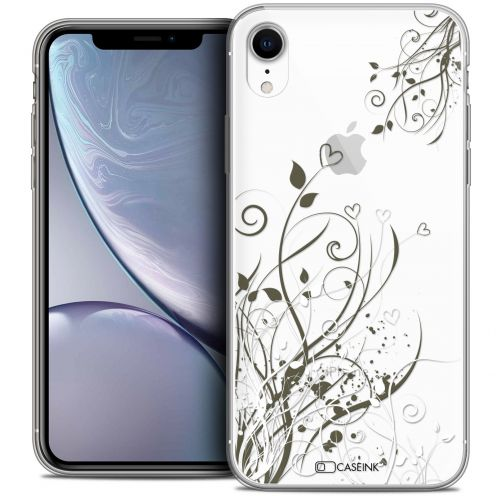 "Carcasa Crystal Gel Extra Fina Apple iPhone Xr (6.1"") Love Hearts Flowers"