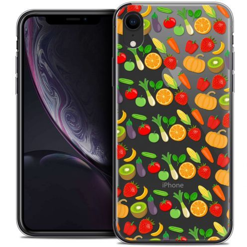 "Carcasa Crystal Gel Extra Fina Apple iPhone Xr (6.1"") Foodie Healthy"