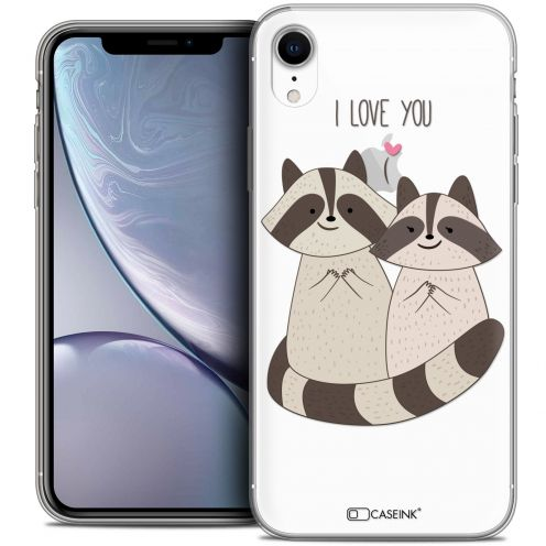 "Carcasa Crystal Gel Extra Fina Apple iPhone Xr (6.1"") Sweetie Racoon Love"