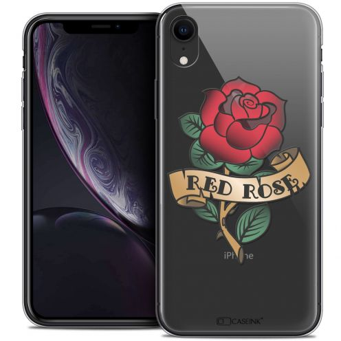 "Carcasa Crystal Gel Extra Fina Apple iPhone Xr (6.1"") Tatoo Lover Red Rose"