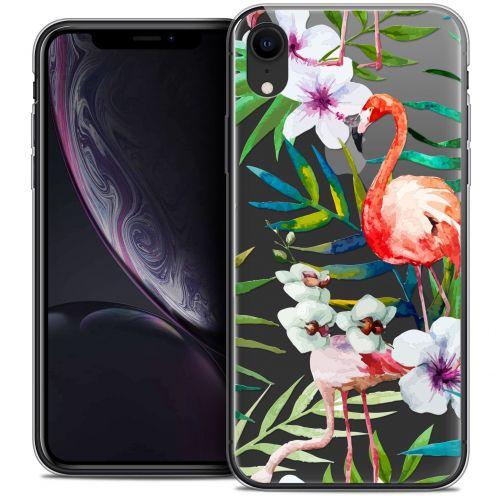 "Carcasa Crystal Gel Extra Fina Apple iPhone Xr (6.1"") Watercolor Tropical Flamingo"