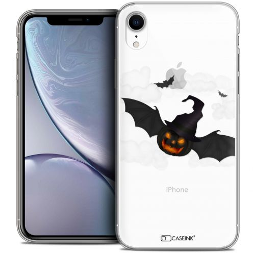 "Carcasa Crystal Gel Extra Fina Apple iPhone Xr (6.1"") Halloween Chauve Citrouille"