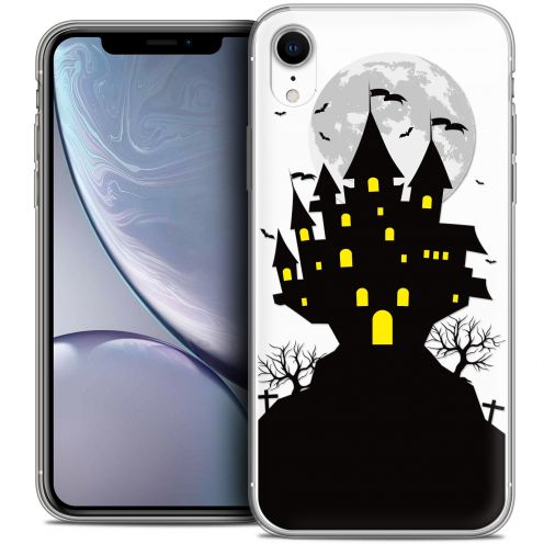 "Carcasa Crystal Gel Extra Fina Apple iPhone Xr (6.1"") Halloween Castle Scream"