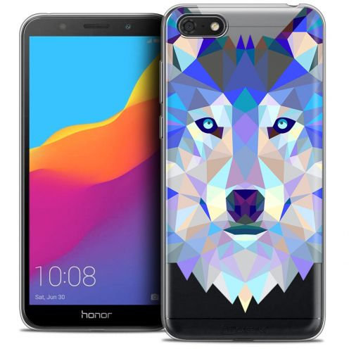 "Carcasa Crystal Gel Extra Fina Huawei Y5 2018 (5.4"") Polygon Animals Lobo"