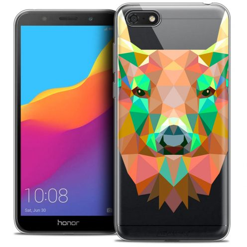"Carcasa Crystal Gel Extra Fina Huawei Y5 2018 (5.4"") Polygon Animals Ciervo"