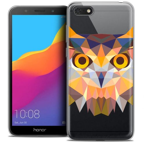"Carcasa Crystal Gel Extra Fina Huawei Y5 2018 (5.4"") Polygon Animals Búho"