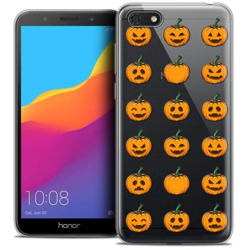 "Carcasa Crystal Gel Extra Fina Huawei Y5 2018 (5.4"") Halloween Smiley Citrouille"