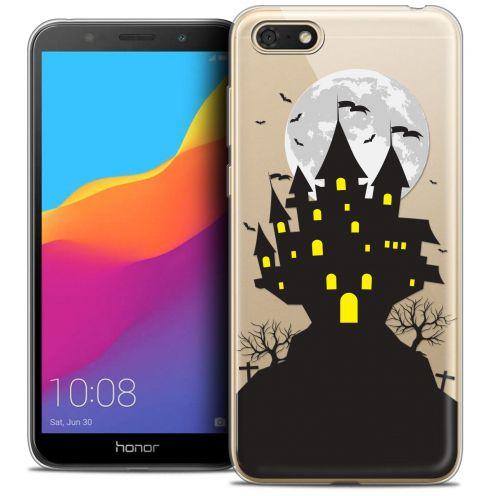 "Carcasa Crystal Gel Extra Fina Huawei Y5 2018 (5.4"") Halloween Castle Scream"