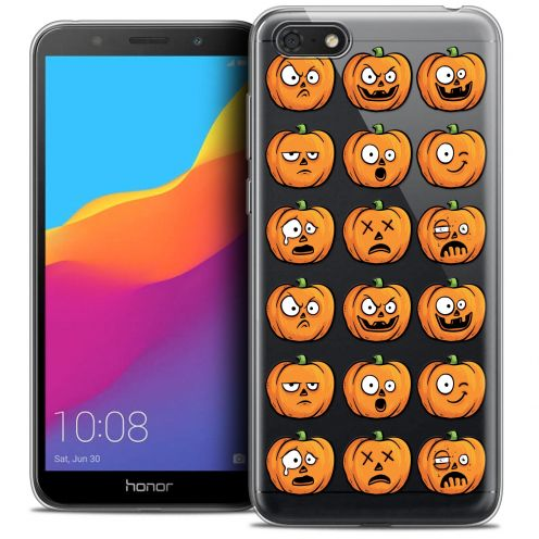 "Carcasa Crystal Gel Extra Fina Huawei Y5 2018 (5.4"") Halloween Cartoon Citrouille"