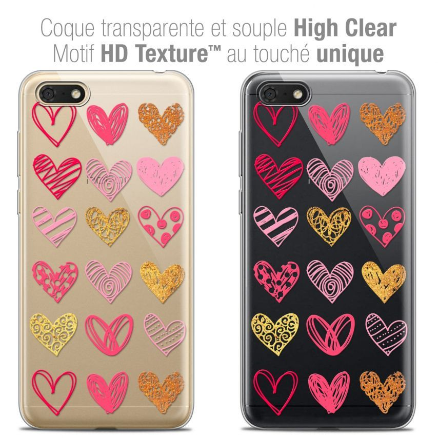 "Carcasa Crystal Gel Extra Fina Honor 7S (5.45"") Sweetie Doodling Hearts"