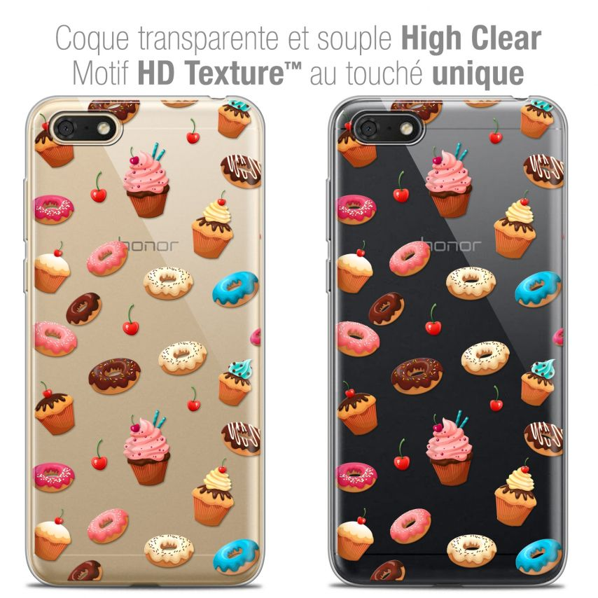 "Carcasa Crystal Gel Extra Fina Honor 7S (5.45"") Foodie Donuts"