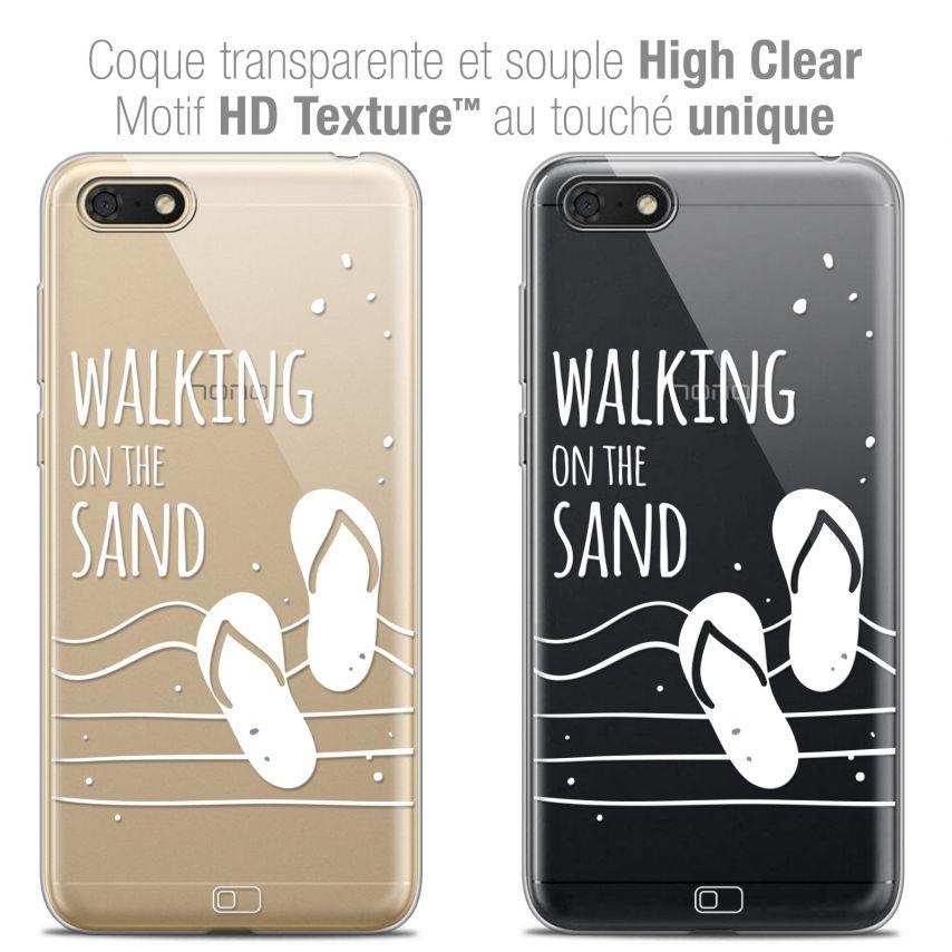 "Carcasa Crystal Gel Extra Fina Honor 7S (5.45"") Summer Walking on the Sand"