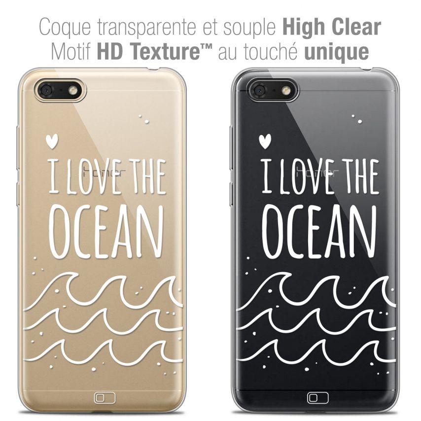 "Carcasa Crystal Gel Extra Fina Honor 7S (5.45"") Summer I Love Ocean"