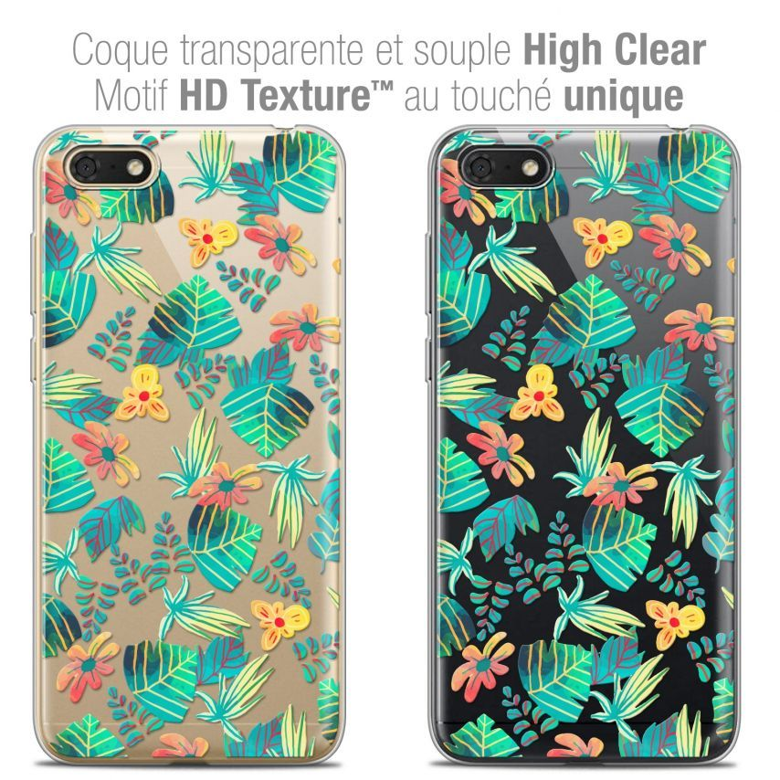 "Carcasa Crystal Gel Extra Fina Honor 7S (5.45"") Spring Tropical"