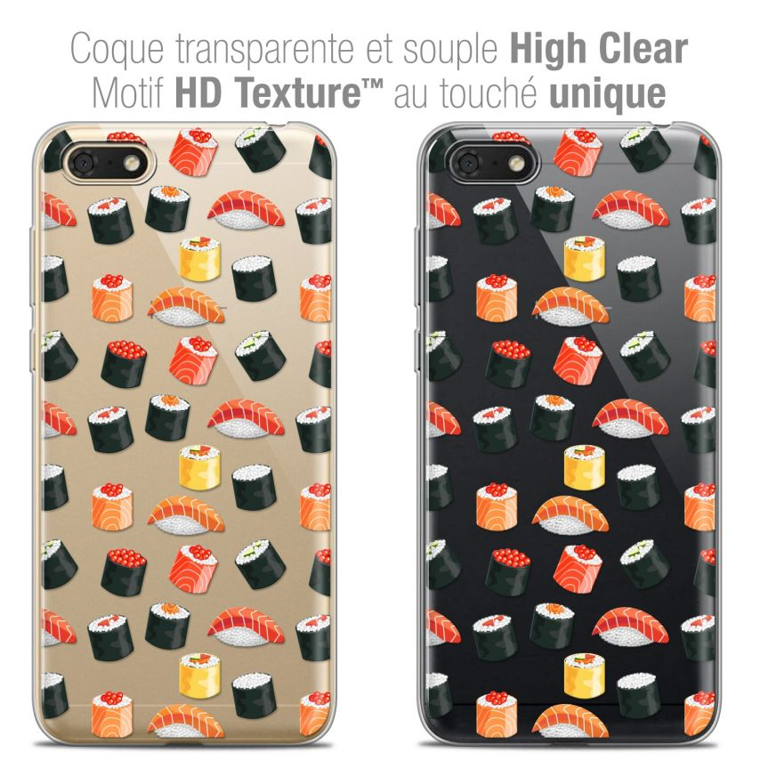 "Carcasa Crystal Gel Extra Fina Honor 7S (5.45"") Foodie Sushi"