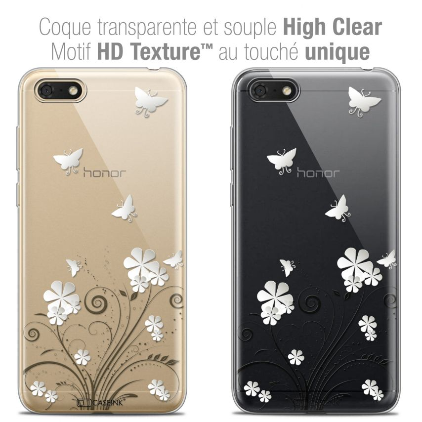"Carcasa Crystal Gel Extra Fina Honor 7S (5.45"") Summer Papillons"