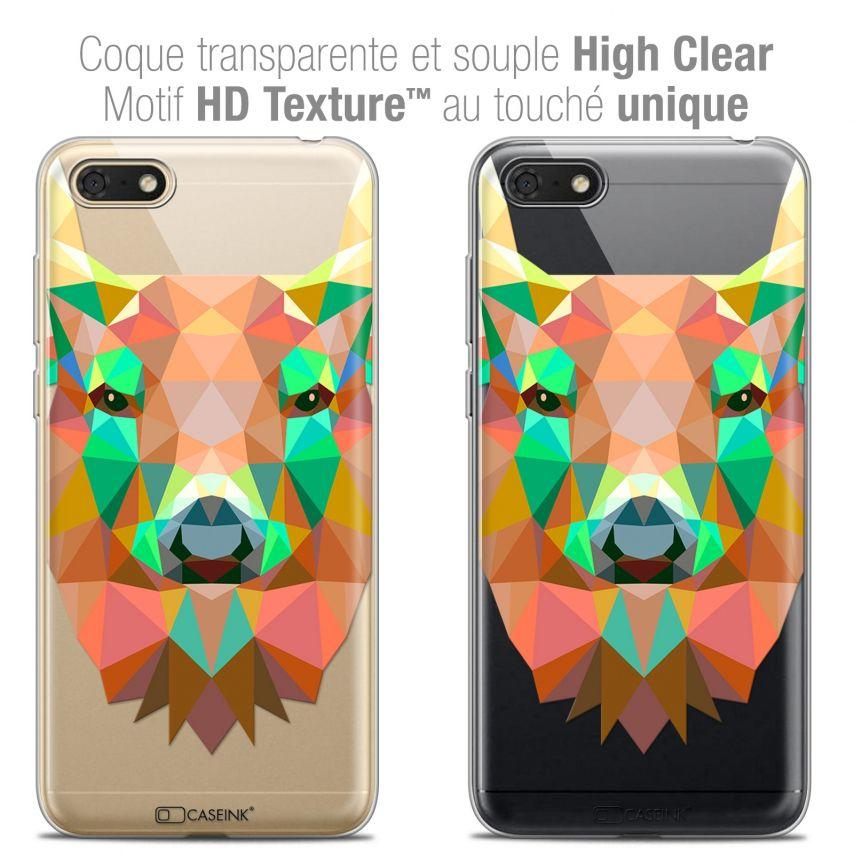 "Carcasa Crystal Gel Extra Fina Honor 7S (5.45"") Polygon Animals Ciervo"